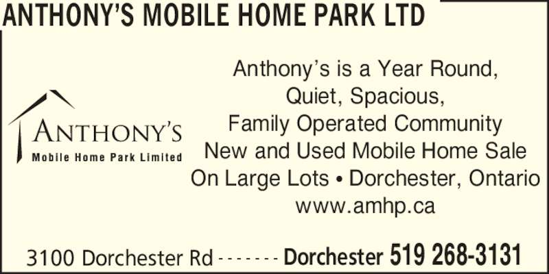 Anthonys Mobile Home Park Ltd