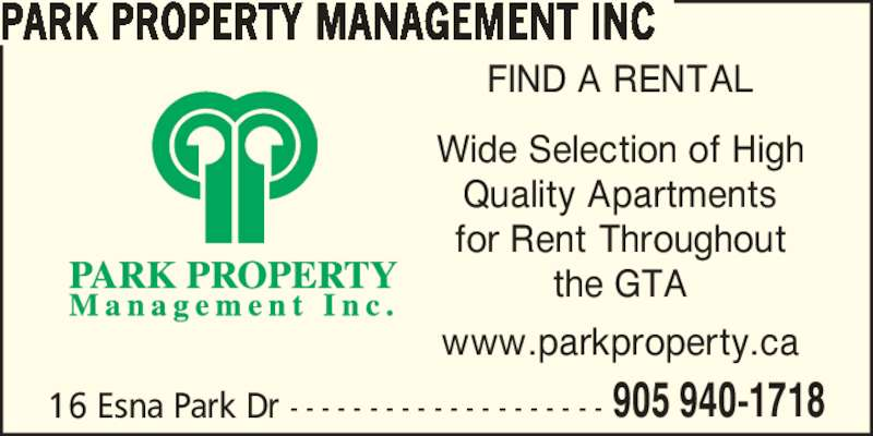 Park Property Management Inc Markham On 16 Esna Park