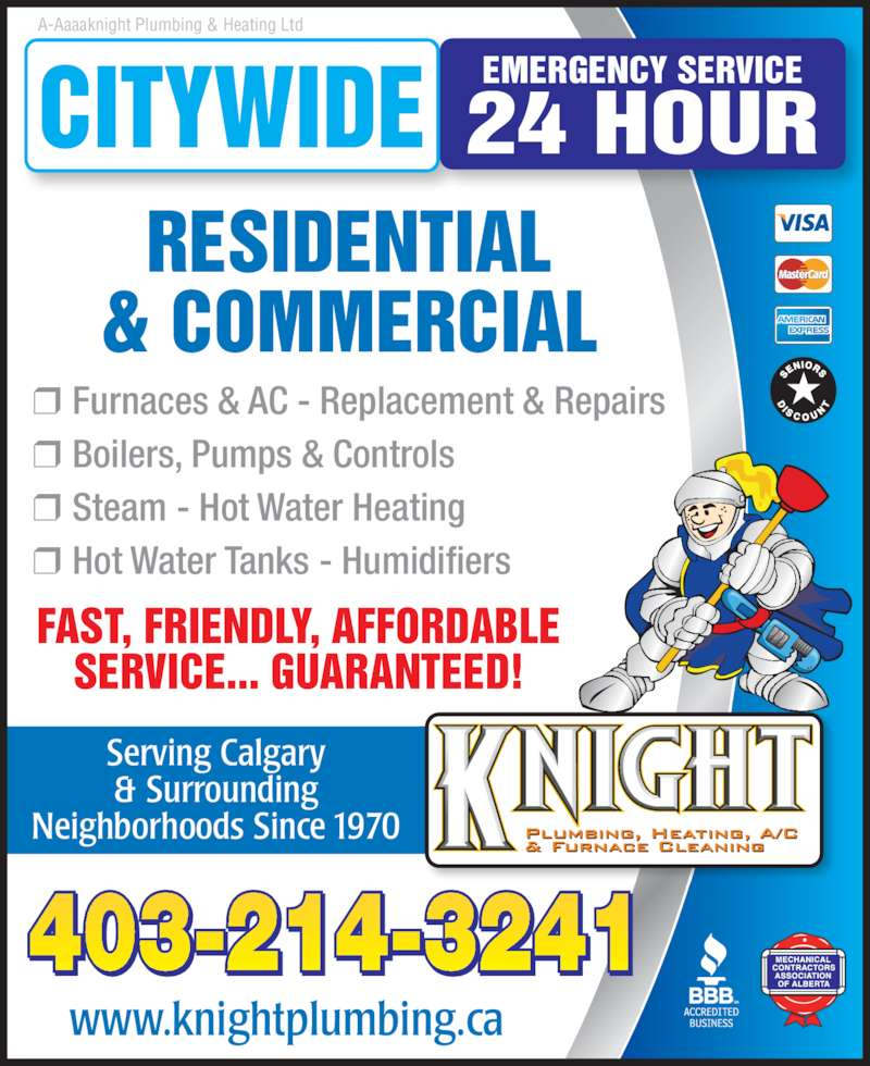 Knight Plumbing, Heating and Air Conditioning - Calgary ...