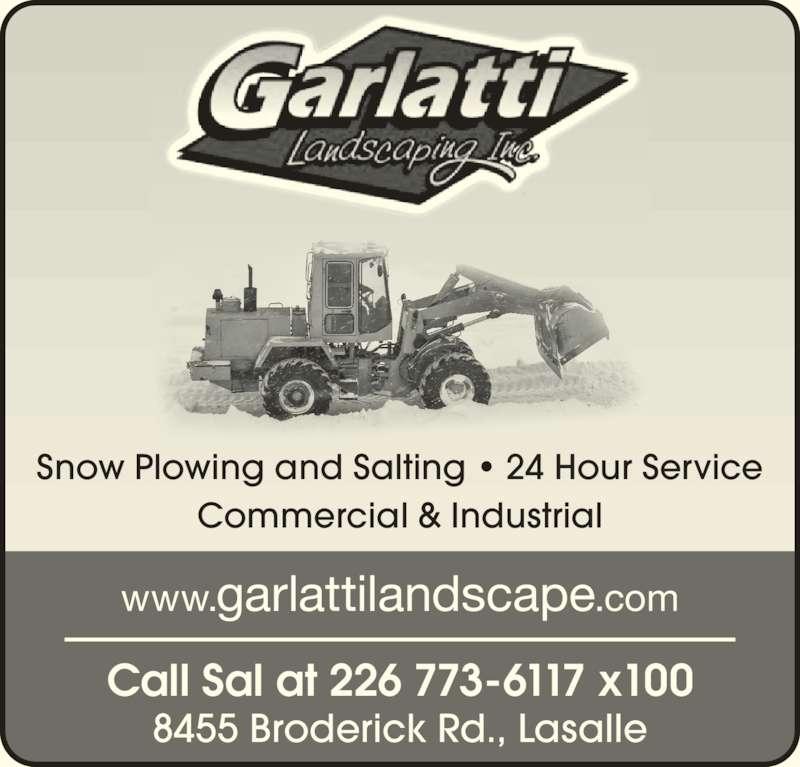 Garlatti landscaping inc opening hours 8455 broderick for Landscaping rocks windsor ontario