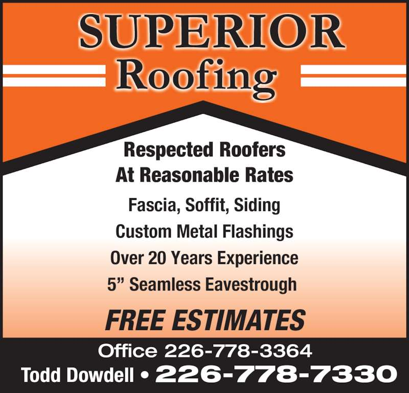 superior roofing. superior roofing ads