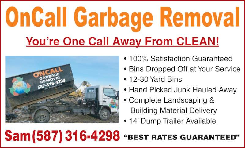 ad ONCALL Garbage Removal Ltd