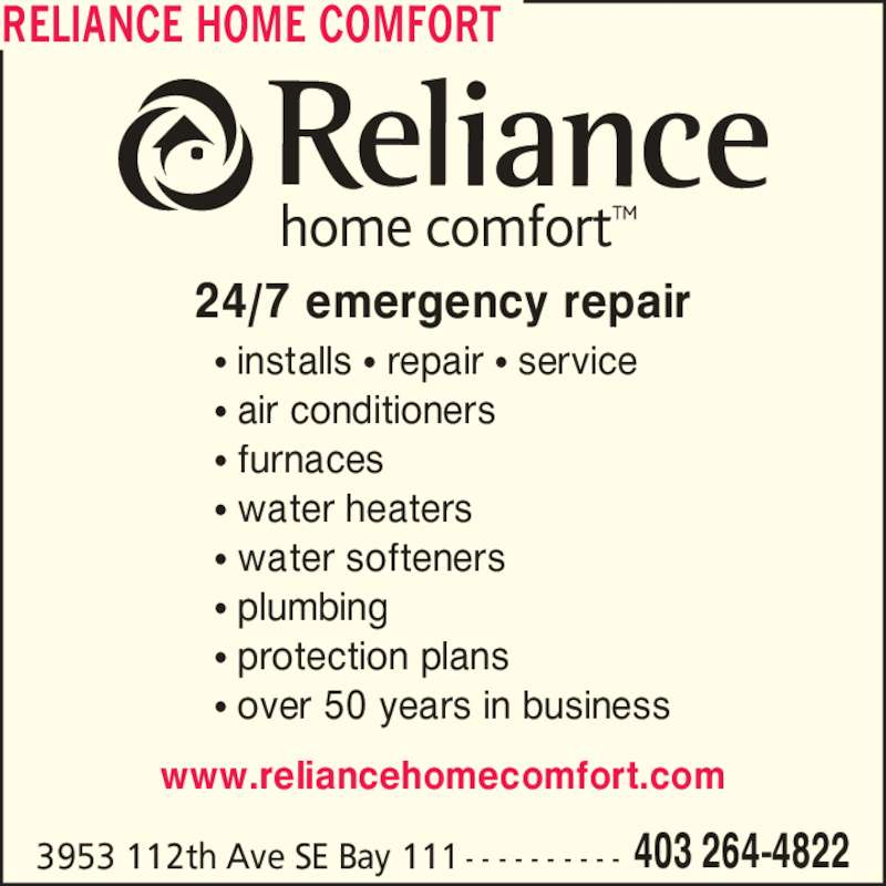 ad Reliance Home Comfort
