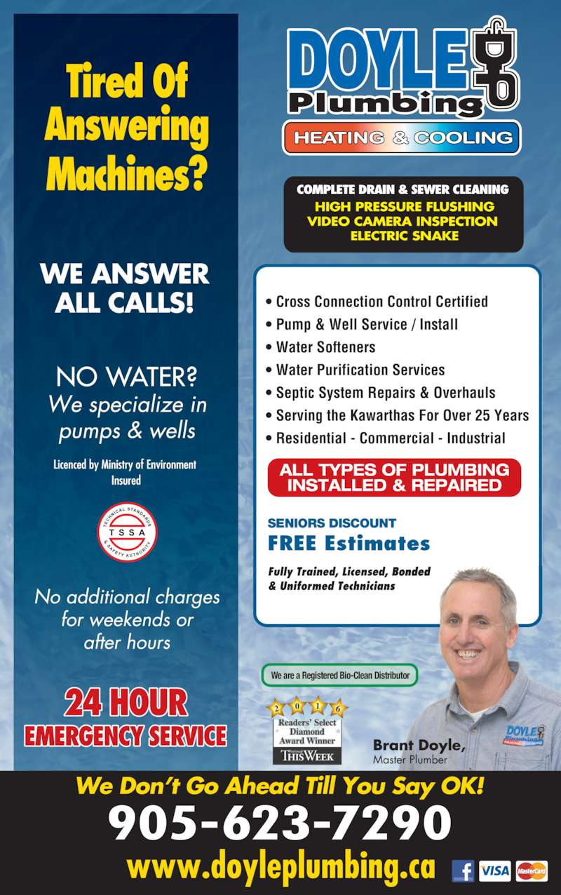Brant doyle plumbing fraserville on 1316 county rd 28 for 24 hour tanning salon near me