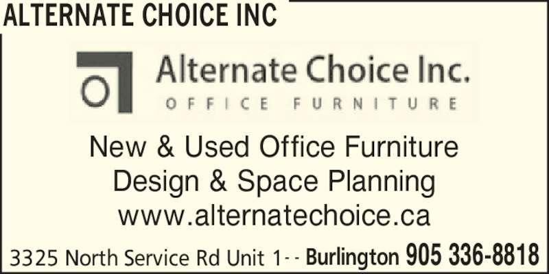 Alternate Choice Inc Burlington On 3325 North Service