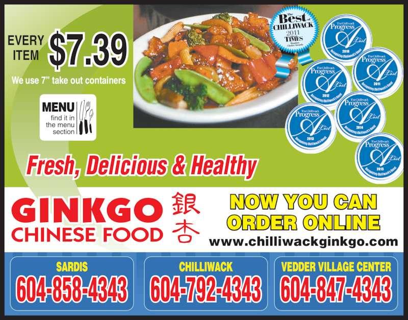 Ginkgo Chinese Food Vedder