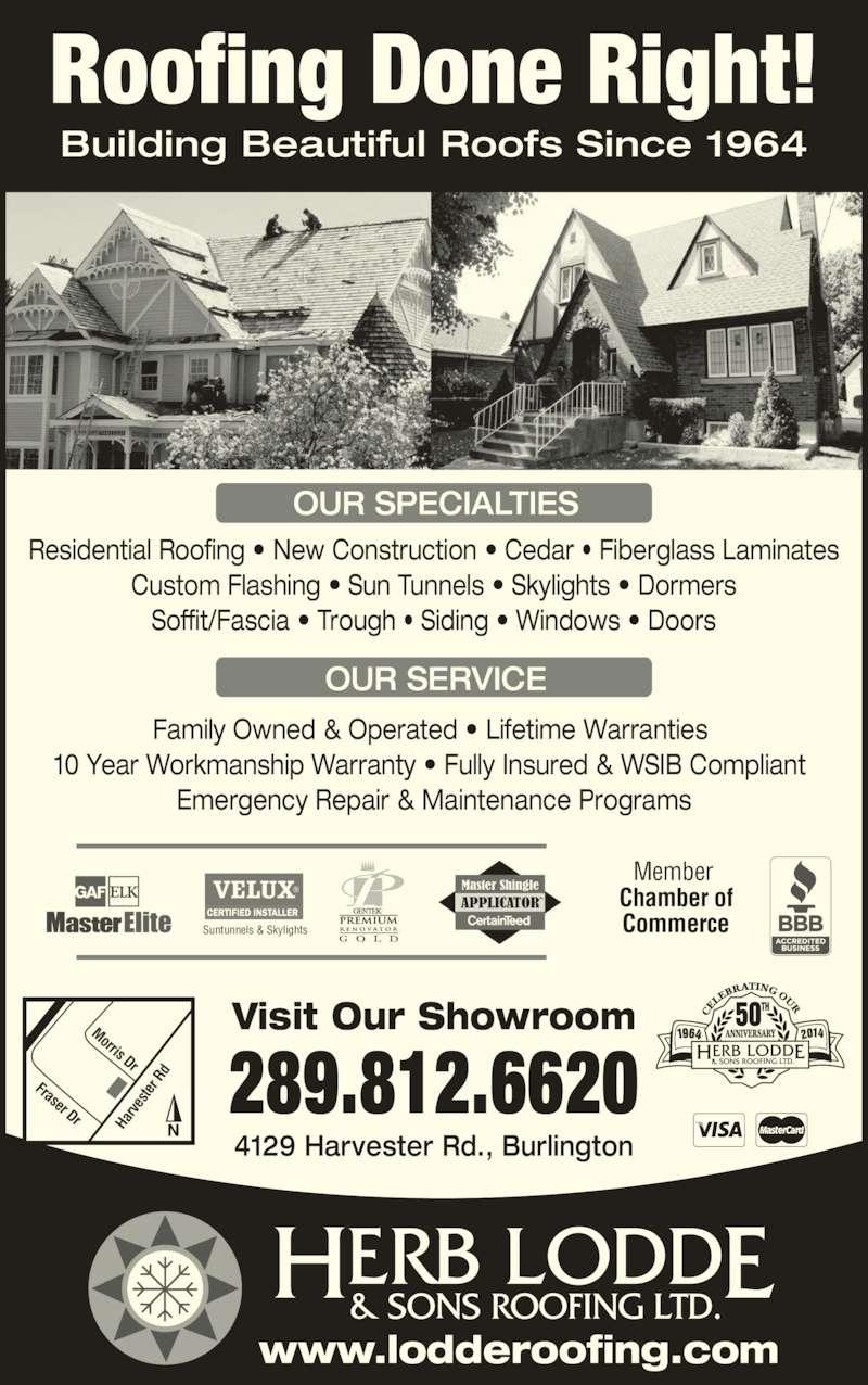 Herb Lodde Amp Sons Roofing Ltd Burlington On 1d 4129