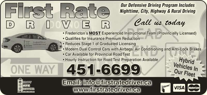 ad First Rate Driver Instruction