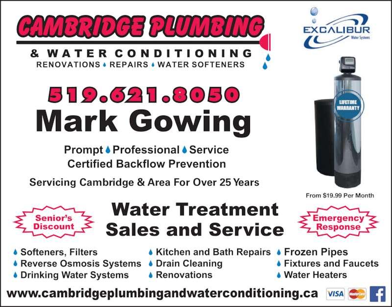 Cambridge Plumbing Amp Water Conditioning Cambridge On