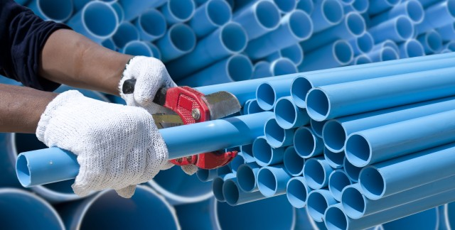 PVC pipe: easy to cut, fit and install