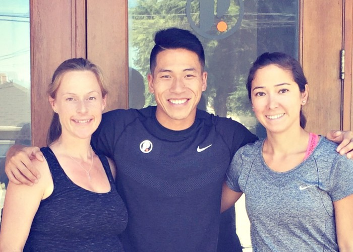 Physio Room owners (from left) Dara Storey, Nick Lo and Deana Bicego first met while studying together at UBC.
