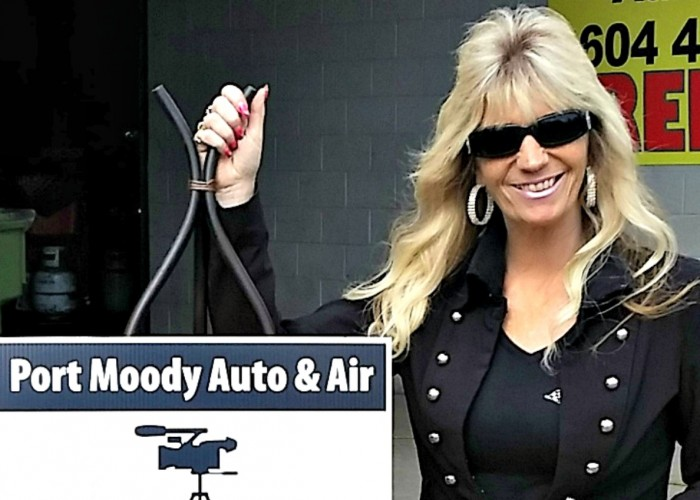 Shelly Smith is Port Moody Auto & Air's hands-on business owner and marketing director.