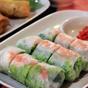 Tangy Southeast Asian summer rolls with Thai dipping sauce