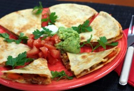 2 Quick and easy quesadilla