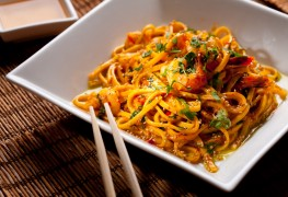 A heart-smart recipe for cold sesame noodles and vegetables