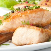 Beating high blood pressure with grilled salmon with pepper-corn relish