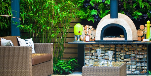 Heating options for an outdoor patio