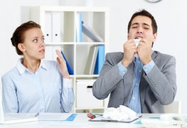How to avoid spreading colds at work