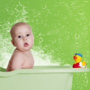 Homemade baby bath toys for fun in the tub