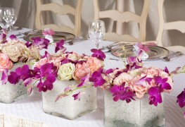 Setting an artful table