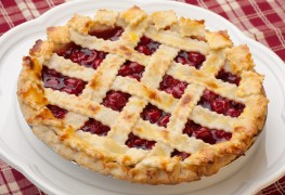 Pi Day recipe: checkerboard cherry pie