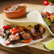 Lower your blood pressure with sizzling beef fajitas