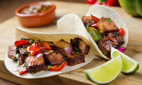 A tasty recipe for beef, onion and pepper fajitas