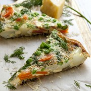 Healthy and flavourful: meatless takes on pizza and frittata