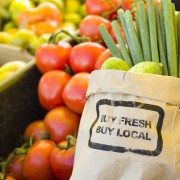 Improve the environment: Shop for locally-grown, organic food