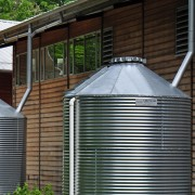 Installing and concealing a rainwater tank
