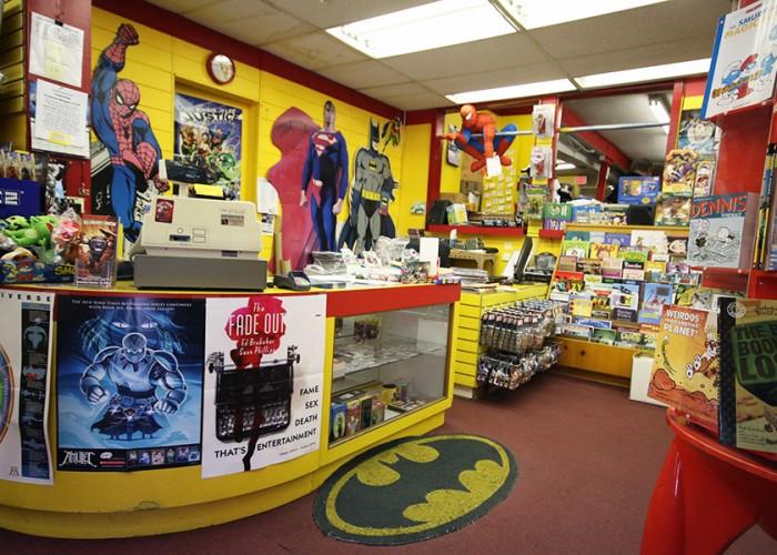 The Comicshop, comics, memorabilia, new and collectible comics, graphic novels, art books, toys, posters, t-shirts