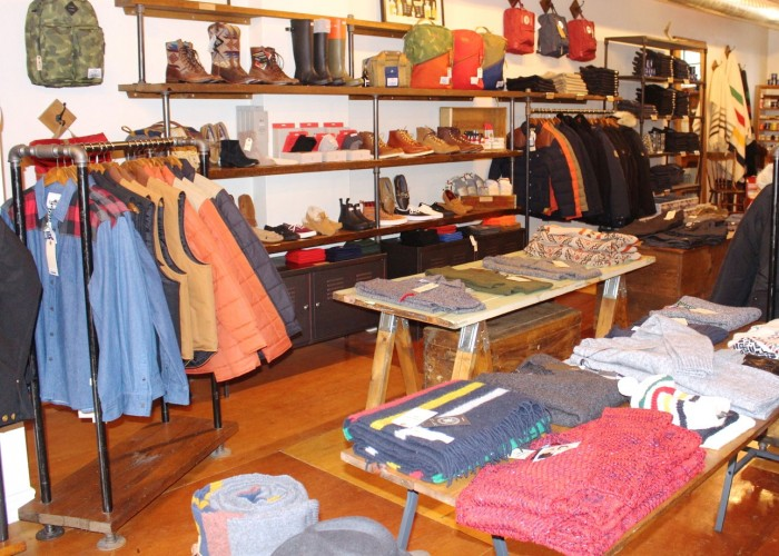 North Standard Trading Post, Outerwear, Personal care products, Toques, Footwear, Denim