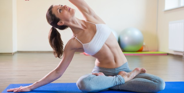 Yoga: try a moderately challenging core routine