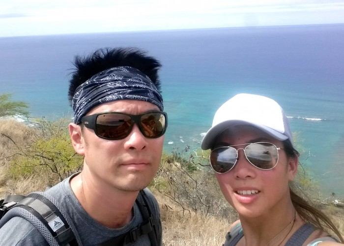 Founders Angela and Jak while on one of their many trips to see family in Hawaii.
