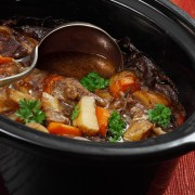 A satisfying recipe for vegetable and veal stew with beer