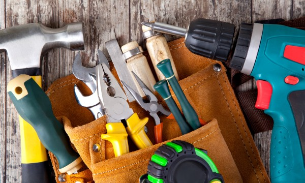 Pro tips for using a drill, a staple gun and a hammer