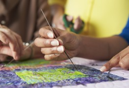 Beautifully bind a patchwork quilt