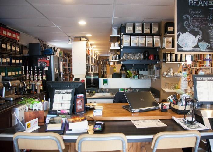 Bean Around Books + Tea, used books, coffee, tea, over 60 loose-leaf teas, game nights, latte, speciality drinks