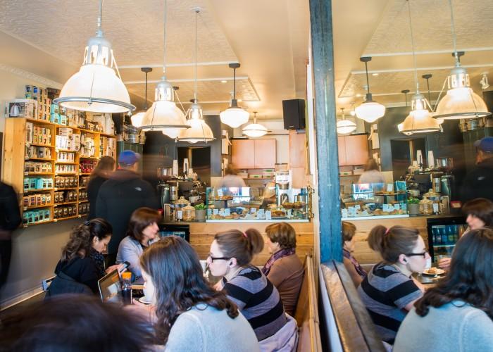 Melk Bar à Café, coffee, baked goods, muffins, scones, maple bacon doughnuts, barista