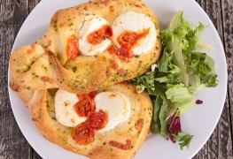 Doughy favorites: Onion bread sticks and tomato parsley focaccia