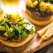 Honey-mustard turkey burgers