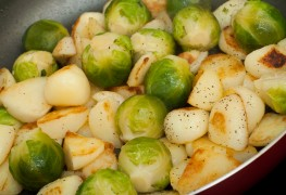 Recipe to beat high blood pressure: Brussels sprouts and potatoes with caraway-mustard sauce