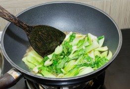 Chow down on stir-fried bok choy with snap peas