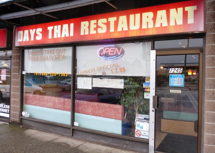 Days Thai Restaurant - Dine-in restaurant, take-out restaurant, food delivery