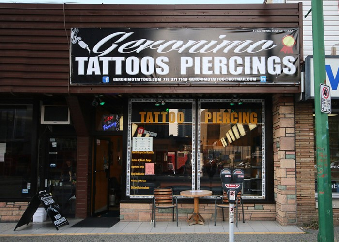 Geronimo tattoo piercing studio burnaby business story for Piercing salon