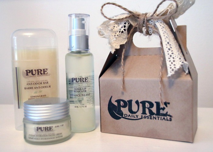 PURE Daily Essentials: Handcrafted in small batches using the highest quality natural raw ingredients: cleansers, make-up remover, moisturizers, complexion mists, lip balms, hand salves, body lotions, body bars, bath salts, soaps Baby products: lotion, salve, calming spray
