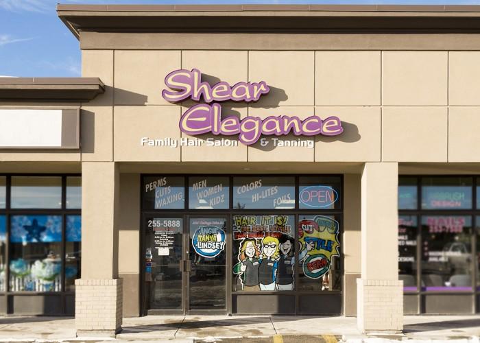 Shear elegance hair tanning salon calgary business story for About u salon calgary
