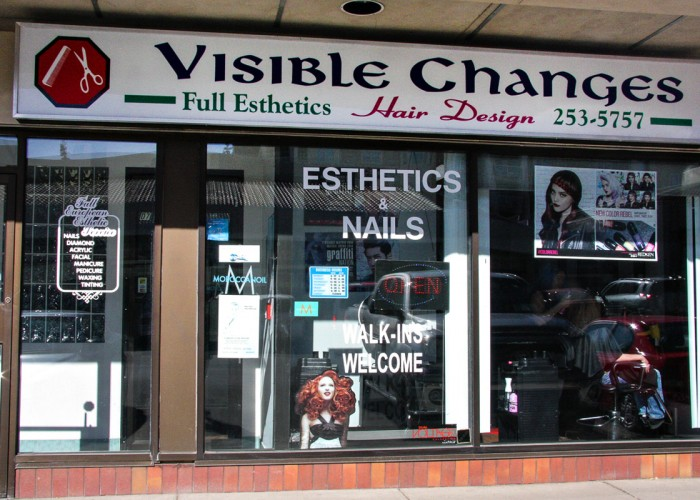 Visible Changes Hair Design. Brands: Matrix, Biolage, Nioxin, Redken. Services: Haircuts, hair colouring, perms, hair extensions