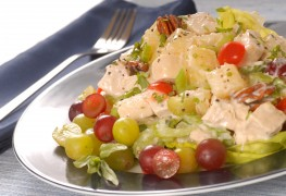 Recipe to beat high blood pressure: creamy turkey salad with grapes and pecans