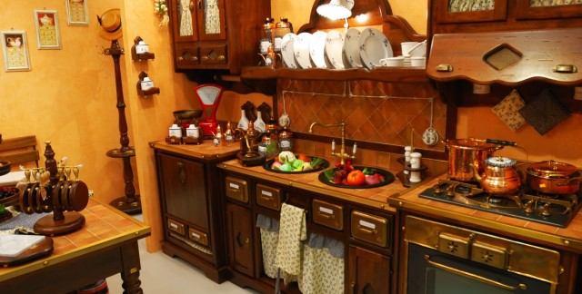 The olden day kitchen